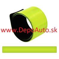 Reflexný samonavijací pásik na ruku - žltý
