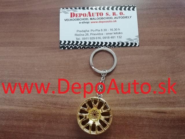 Prívesok v tvare kolesa   zlatý zväčšiť obrázok 6ab3df7a2ad
