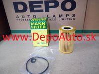 VW JETTA 4/2010- olejový filter 1,6TDi / MANN FILTER