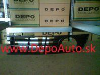 Audi A4 10/00-9/04 kryt v nárazníku s otvorom,Lavý