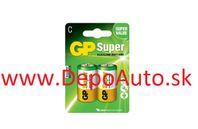 Batéria GP 14AU R14 BL 1,5V (malé mono, C) 2ks