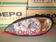 Chrysler PT CRUISER 2000- predné svetlo HB3A+HB4A Lavé,typ USA