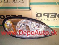 Chrysler PT CRUISER 2000- predné svetlo HB3A+HB4A Pravé,typ USA