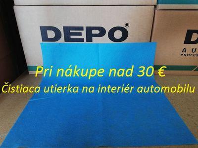 Čistiaca utierka na interiér automobilu / 38 x 38 cm / modrá