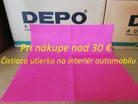 Čistiaca utierka na interiér automobilu / 38 x 38 cm / ružová