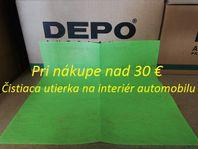 Čistiaca utierka na interiér automobilu / 38 x 38 cm / zelená