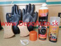 Čistiaci+dezinfekčný prostriedok na klimatizácie automobilu 2ks + rukavice + špongie 2ks
