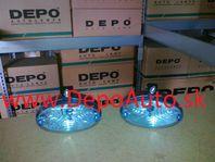 Denné svetlo 12/24V-120x65mm Sada L+P / modré /
