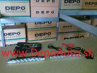 Denné svetlo 12V-185x20x33mm Sada L+P / LED /