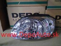 Hyundai ACCENT 3/03-07 predné svetlo Lavé / biela smerovka /
