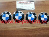 Krytky kolies s logom BMW /priemer 57mm- 4 ks