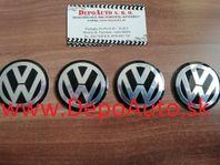 Krytky kolies s logom VW /priemer 57mm- 4 ks