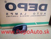 Mazda 323 SED, HB 323F 3/01- vnútorná klučka Pravá zadná,čierna