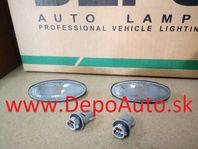 Mazda 323 SED,HB 323F 10/98-2/01 bočné smerovky čierne Sada L+P