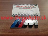 Nálepka pre BMW M Power 7,5x2,9 cm / kovová