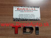 Nálepka pre VW TDI 7,7x2,5 cm / kovová