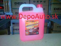 Nemrznúca zmes do chladičov G12 4 litre,červená