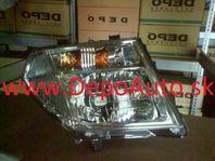 Nissan NAVARA 7/05- svetlo H4 Pravé / DEPO /