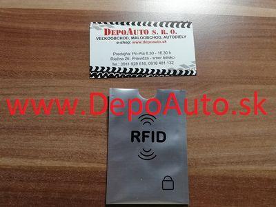 Ochranný obal pre bankomatovú kartu / hliník