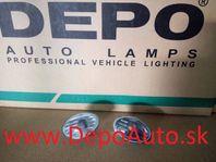 Opel Tigra 94-00 bočné smerovky číre čierne Sada L+P