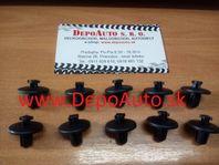 Peugeot 307 01-05 príchytky podblatníkov 10ks