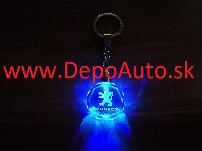 Prívesok Peugeot / LED svietiaci