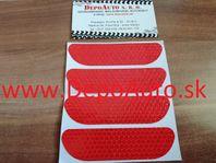 Reflexná páska 9,5 x 2,5cm / červená 4ks