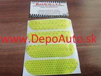 Reflexná páska 9,5 x 2,5cm / žltá 4ks