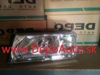 Škoda Octavia 9/00- svetlo H3+H4 Lavé / DEPO / bez motorčeka