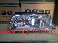 Škoda Octavia 9/00- svetlo H3+H4 Lavé / TYC / s motor. / Dodanie do 24h