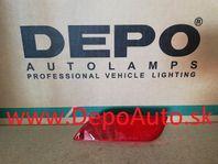 Subaru IMPREZA 12/07-2012 odrazka v zadnom nárazníku Lavá / PRE HB /