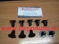 Toyota RAV 4 6/00-10/05 príchytky podblatníkov 10 ks