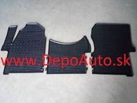VW CRAFTER 4/2006- gumové koberce čierne Sada 3ks