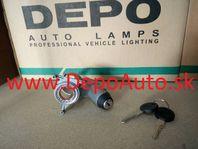 VW GOLF III 9/91-4/99 teleso spínacej skrinky + 2x klúč
