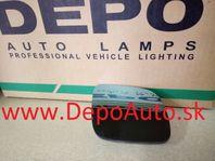 VW Golf IV 97-03 sklo zrkadla Pravé,bez vyhrievania,malé modré