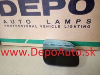 VW Golf IV 97-03 sklo zrkadla Pravé,vyhrievané,malé modré