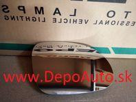 VW Golf V 8/03- sklo zrkadla Pravé,vyhrievané / Dodanie do 24h