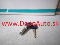 VW LT II 5/96-12/05 vložka zámku dverí + 2 x klúč,Lavá
