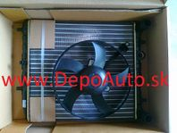 VW POLO 06/09- chladič vody s ventilátorom 1,2i-1,4i