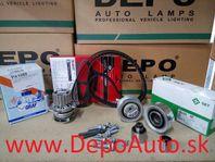 VW POLO 06/09- rozvodová Sada / 1,6TDi -55/66kw/ INA+GATES zosilený remeň