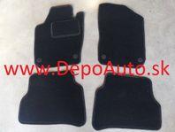 VW POLO 06/09- textilné koberce čierne - guľaté príchytky