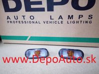 VW Sharan 5/00- bočné smerovky dymové Sada L+P