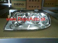 VW Sharan 5/00- predné svetlo H1+H7,Lavé / TYC /