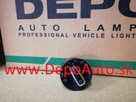 VW TOURAN 1/03-12/06 hlavný vypínač svetiel / chrómový