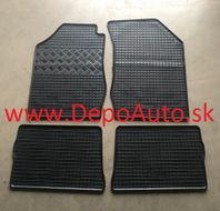 VW TOURAN 9/2015- gumové koberce čierne 4ks