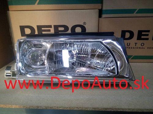 Škoda Octavia 9/00- svetlo H3+H4 Pravé / TYC / s motor. / AKCIA